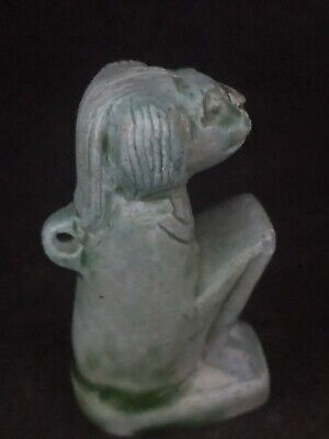 Rare Ancient Egyptian Seated Sekhmet Pendent Amulet(c.3100-c.2890 BC)