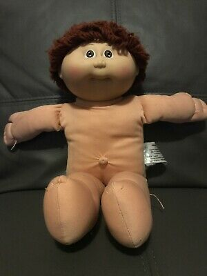 Cabbage Patch Doll Vintage 1982 Boy Brown Curly Hair (g)