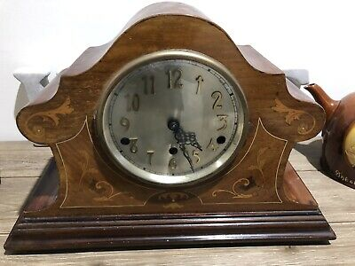 Original Old Westminster Chime Clock Inliad Working Well