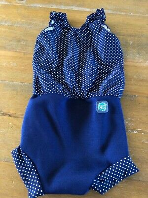 Splash About Happy Nappy Swimming Costume Girls Size XL Swimsuit Baby 12-24m