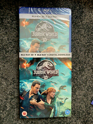 Jurassic World Fallen Kingdom Uk 2D/3D Blu Ray Brand New Sealed With Slipcase