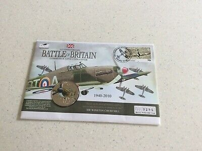 Guernsey 2010 £5 Battle Of Britain Commemorative Coin Cover.