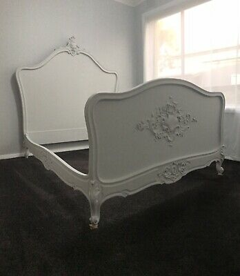 Double Antique French Provincial Bed - Shabby Chic Tween