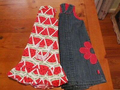 Girls Size 5-6 Clothing Bundle, Rhubarb Denim & Handmade Watermelon