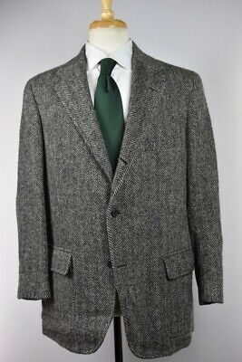 BROOKS BROTHERS Herringbone Tweed Lambswool Sport Coat Jacket Size 43 R Mint USA