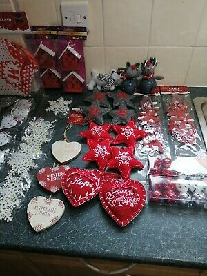 Wholesale Job Lot of 128 x Xmas Robins Decoration RRP £1.50 Per Pack NEW Gift