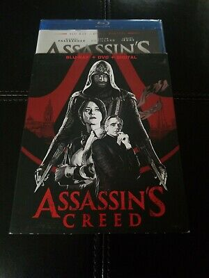 ASSASSINS CREED BLU-RAY + DVD + DIGITAL with slipcover NEW SEALED