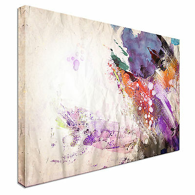 Abstract water stroke Canvas Wall Art Picture Print