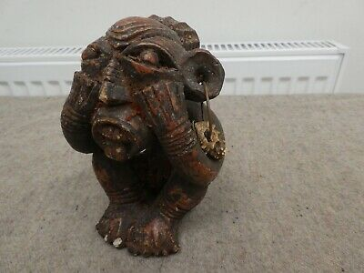 Antique/Antiquity African? Tribal Pottery? Figure Pre-Columbian? Girl w/ Earring