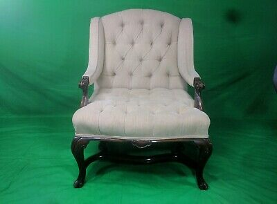 Vintage French Louis XV Fauteuil Bergere Chair Cabriole Legs- Local Pickup avail