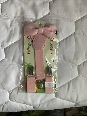 Suspender and Bow Tie Set for Baby Toddler Kids Boys Girls Children 0-5 Years
