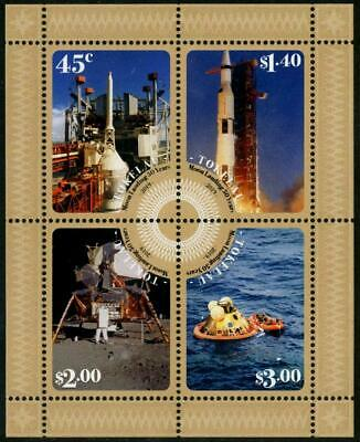 2019-06- Tokelau - Space  Apollo 11  Bf   4V    Mnh/** T