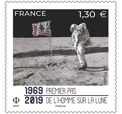 2019-06- France - Space  Apollo 11    1V    Mnh/** T