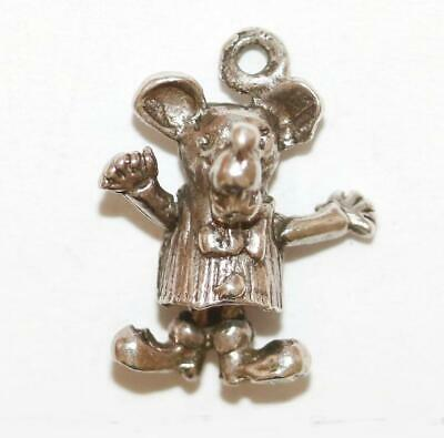 Moving Mickey Mouse Sterling Silver Vintage Bracelet Charm c.1960's England