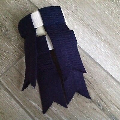 Blue Garter Flashes From Kinloch Anderson - 100% Pure New Wool