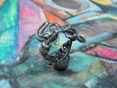 Stunning Unique Ancient Roman Silver ring Two Snake Senatorial Fine artifact