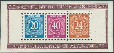 Germany Allied Occ. General Issues 1946 Mi Block 12A Charity Issue MNH