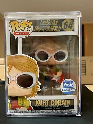 Nirvana POP Rocks Kurt Cobain Vinyl Figure #64 [White Sunglasses, Red Guitar]