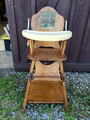 Roy Rogers vintage antique High Chair.Excellent condition, all original.