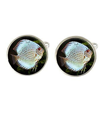 Discus Fish Mens Cufflinks Ideal Wedding Birthday Or Fathers Day Gift C305