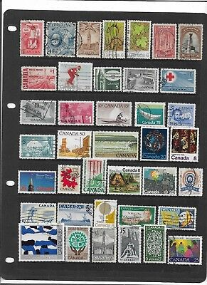 CANADA Early to Modern All Different Used Commemorative Stamps Collection