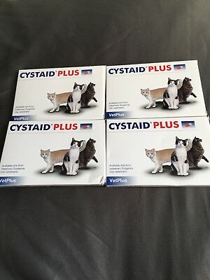 Cystaid Plus Capsules for Cats Feline Cystitis 4 Packs Of 30 Brand New Cheapest