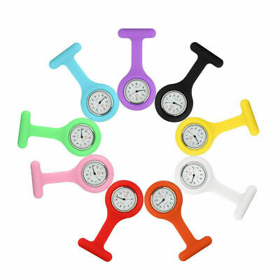 Silicone Rubber Nurse Watch Brooch Tunic Fob Watch With Free Battery Doctor Medi
