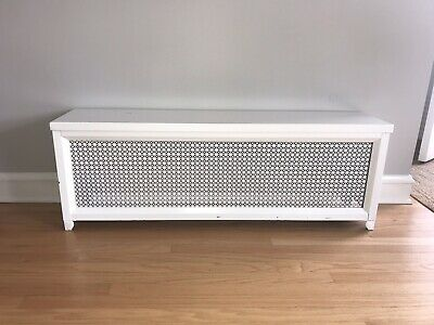 "Vintage Metal Bright White Radiator Cover, 51"" x 11 x 18"" high Pick up only"