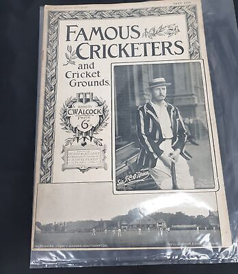Famous Cricketers And Cricket Grounds Part XVII Magazine Edited By C.Walcock
