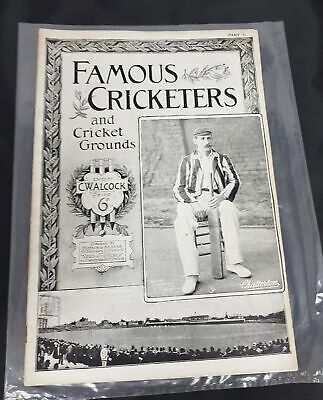 Famous Cricketers And Cricket Grounds Magazine Part II Edited By C.Walcock #120