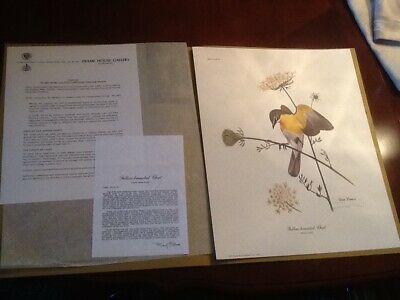 Ray Harm Print, Yellow Breasted Chat Artist Signed 1973 12 X 15