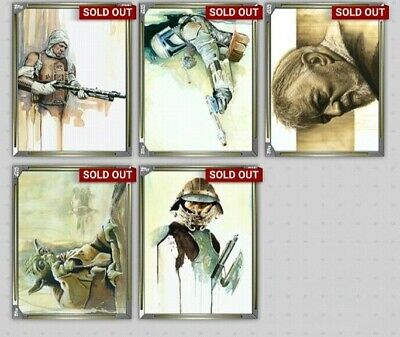 Topps Star Wars Digital Card Trader Gold Premiere Paintings Insert Awards LOT x5
