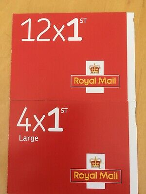 12 Royal Mail 1st Class Stamps plus 4 Large letter. Free First Class Delivery.