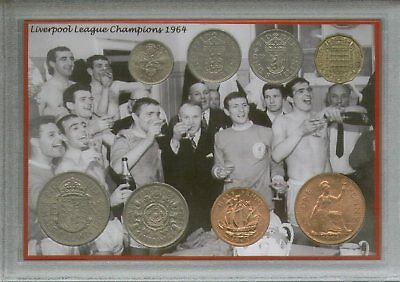 Liverpool FC Vintage Bill Shankly League Champions Retro Coin Fan Gift Set 1964