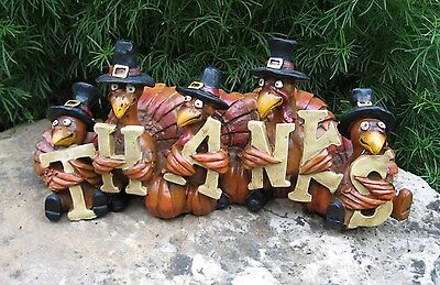 TURKEY Sculpture*Primitive/French Country Farmhouse/Thanksgiving Table Decor*NEW