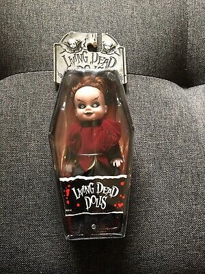 Living Dead Dolls Serie 2 Mini Lizzie Borden New In Coffin But Not Sealed