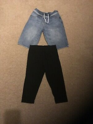 Girls Next Denim Knee Length Short 14yrs/Mini Boden Black Cropped Leggings 13-14