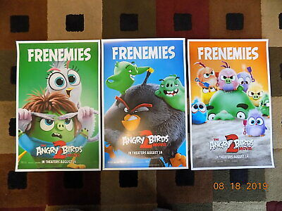 """The Angry Birds Movie 2 (11"""" x 17"""") Movie Collector's Poster Prints (Set of 3)"""