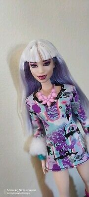 Abby  - Ooak Barbie Doll Custom Repaint Doll Articulated monster high styled
