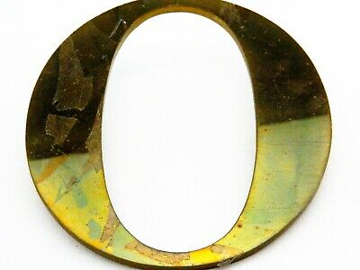 "Vintage Solid Brass Shop Letter O, 6"" Reclaimed Architectural Salvage, Sign, MCM"