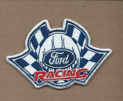 New 2 X 3 Inch Ford Racing Die Cut Iron On Patch Free Shipping P1