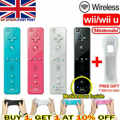 Uk Brand New Remote Controller For Nintendo Wii & Wii U + Silicone + Strap Fast