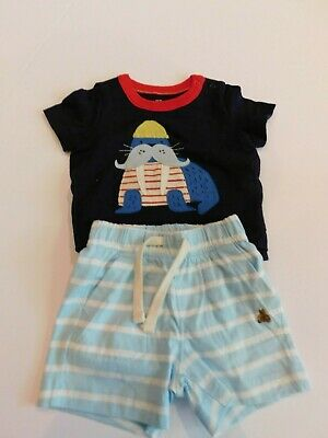 NWT Gap Baby Boy 2 Pc Body Double Walrus/Shorts 3-6M MSRP$35 New Free Shipping