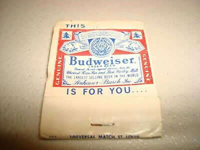 Rare Vintage Matches Budweiser This...  Is For You...  Anheuser Busch Original!