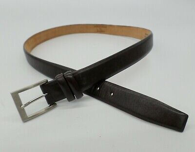 W Kleinberg for Neiman Marcus Leather Belt 40 Brown Made in USA