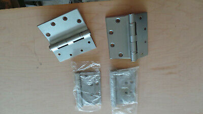 "1 Pair Stanley 5"" Brushed Nickle Chest Hinges"
