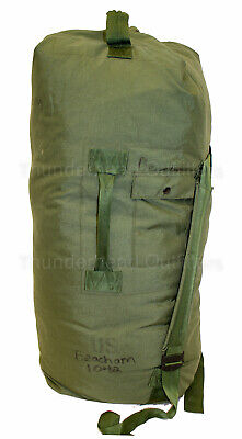 US Military TOP LOADING DUFFEL BAG Duffle with Straps Sea Bag OD Nylon VGC