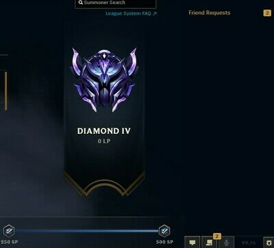 NA Diamond 4 D4 League of Legends Account with a 71% Win Ratio