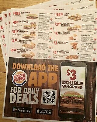 Save! 4 Sheets Burger King Coupons 🍔🍟 🐓 Expire 11/17/19