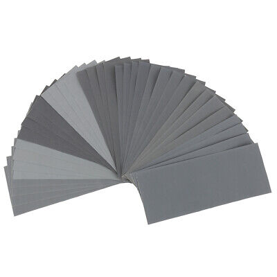 36/42x Mixed Wet and Dry Waterproof Sandpaper 120-3000 Grit Assorted Wood Metal
